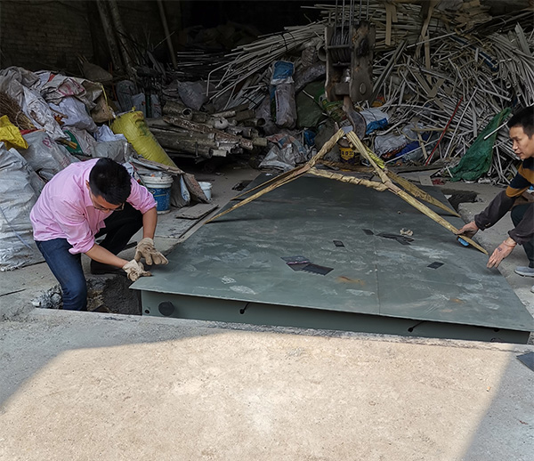 重庆巴南塑料制品回收站地磅安装