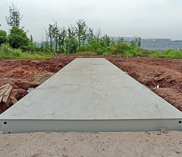 四川科兴建工集团工地3*15米120吨地磅安装