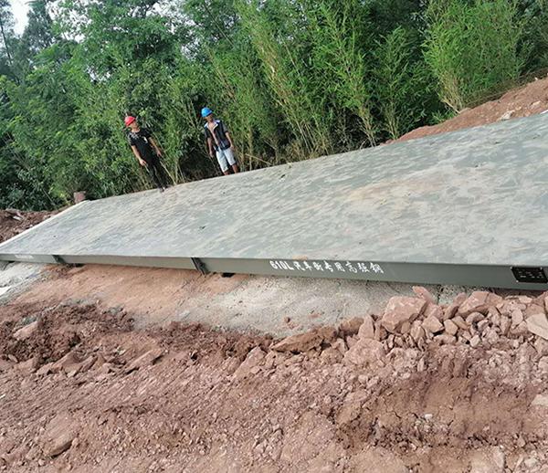 四川宜宾3*14米100吨地磅安装